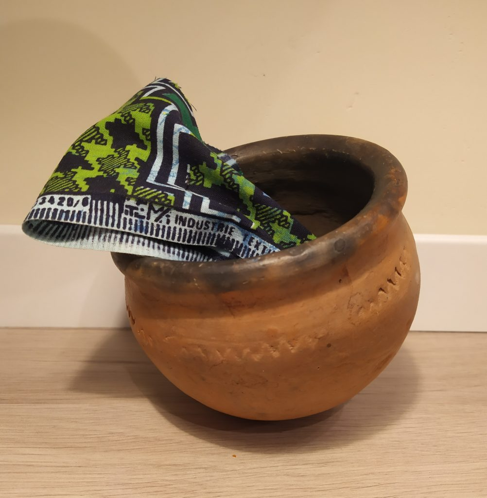 Pot en terre cuite, origine Mali